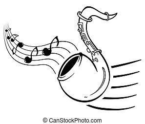 saxo, musique