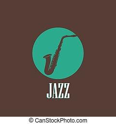 saxophone, illustration