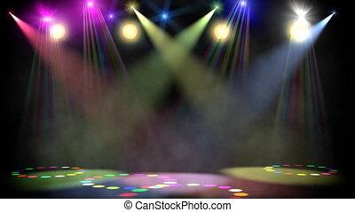 scène, boucle, disco