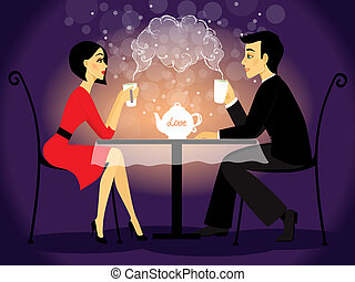 scène, couple, aveu, amour, dater