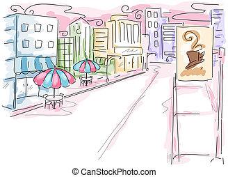 scène urbaine