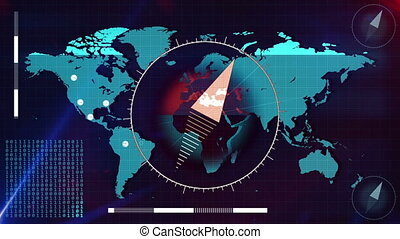 scanner., carte, mondiale