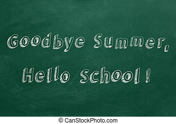 school!, revoir, été, bonjour