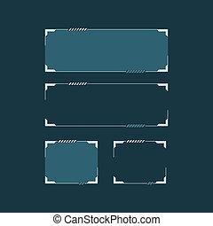 sci, vecteur, fi, interface., techno, utilisateur, hud, illustration, concept, résumé, moderne, futuriste