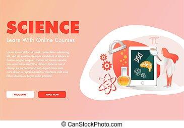 science, éducation ligne