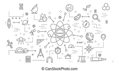 science, animation., concept