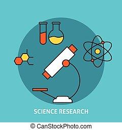 science, concept, recherche
