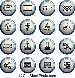 science, ensemble, icône