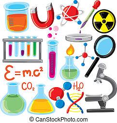 science, ensemble, remplir