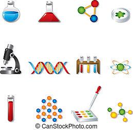 science, icônes toile