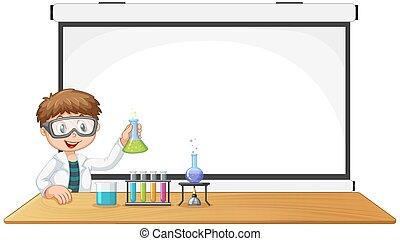 science, jeune, copyspace, garçon