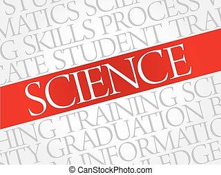 science, mot, nuage