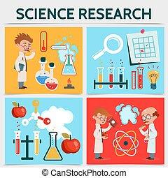 science, plat, concept, recherche