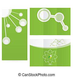science, résumé, molécule, fond, conception