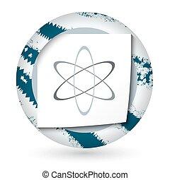 science, résumé, papier, symbole, icône