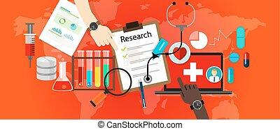 science, recherche médicale, vecteur, laboratoire, icône