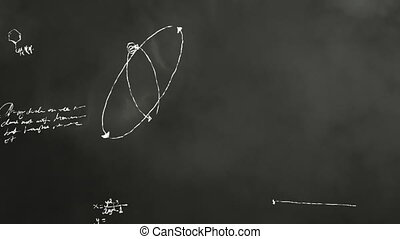 science, scribbl, math, tableau noir