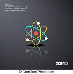 science, vecteur, arrière-plan noir