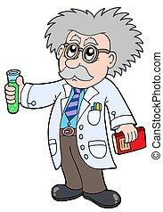 scientifique, dessin animé