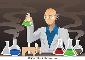 scientifique, laboratoire