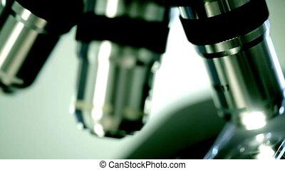 scientifique, microscope., recherche, fond, healthcare, laboratoire
