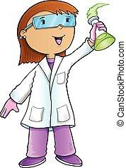 scientifique, vecteur, art, docteur