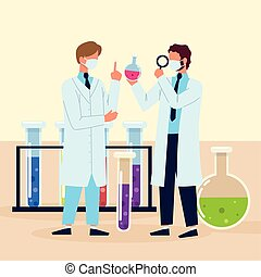 scientifiques, processus, recherche, science