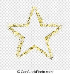 scintillement, étoile, isolé, fond, transparent