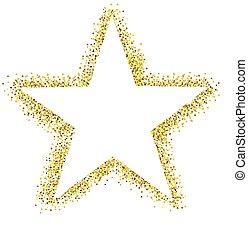 scintillement, étoile, isolé