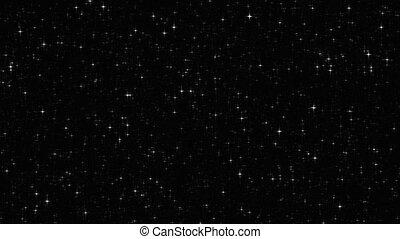 scintillement, étoiles, au-dessus, boucle