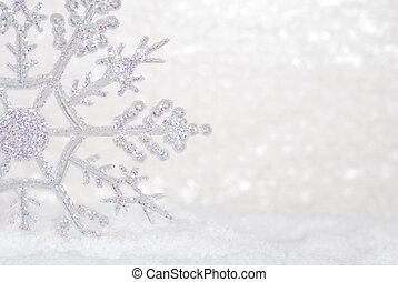 scintillement, neige, flocon de neige