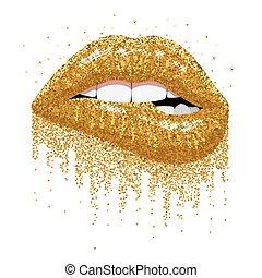 scintillements, or, scintillement, lèvres