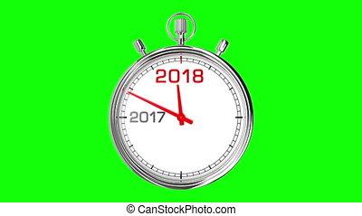screen), 2018, année, chronomètre, nouveau, (green
