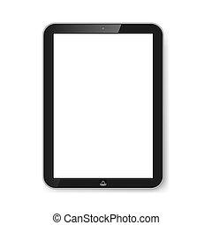screen., tablette, vide