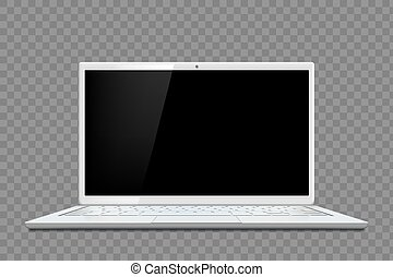 screen., vide, mockup, gabarit, noir, vecteur, ordinateur portable