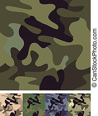 seamless., ensemble, 4, camouflage