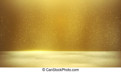 seamless, fond jaune, poussière, scintillement, boucle