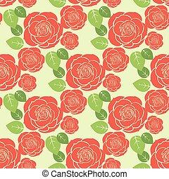 seamless, fond, roses