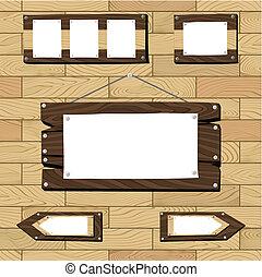 seamless, plancher, bois, cadres