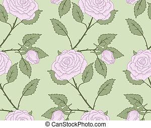 seamless., roses
