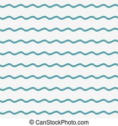 seamless, vagues, pattern., bleu