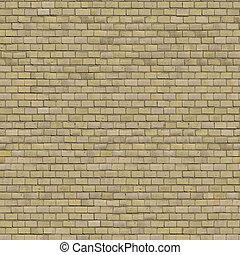 seamless, wall., beige, brique, tileable, texture.