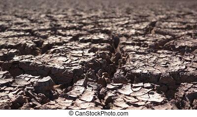 sec, ambiant, terre criquée