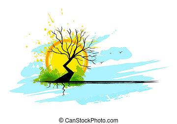sec, arbre
