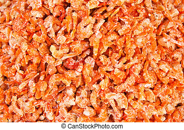 sec, crevettes