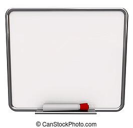 sec effacer conseil, vide, marqueur, blanc rouge