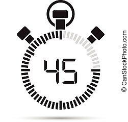 seconde, 45, minuteur