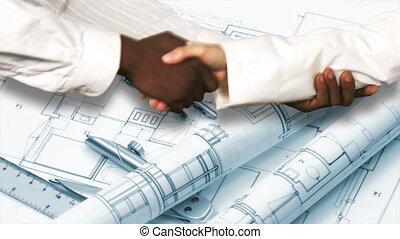 secousse, hands., deux, architectes