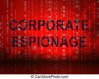 secret, illustration, 2d, cyber, hacher, espionnage corporation
