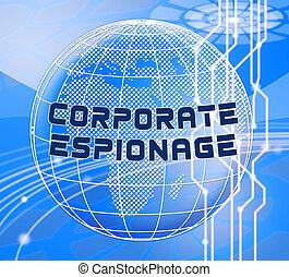 secret, illustration, cyber, hacher, espionnage corporation, 3d